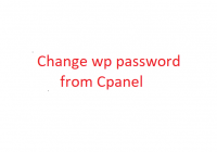 Change wordpress website password from cpanel