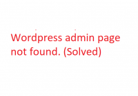 wordpress-admin-page-not-found