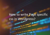 Page specific css in wordpres