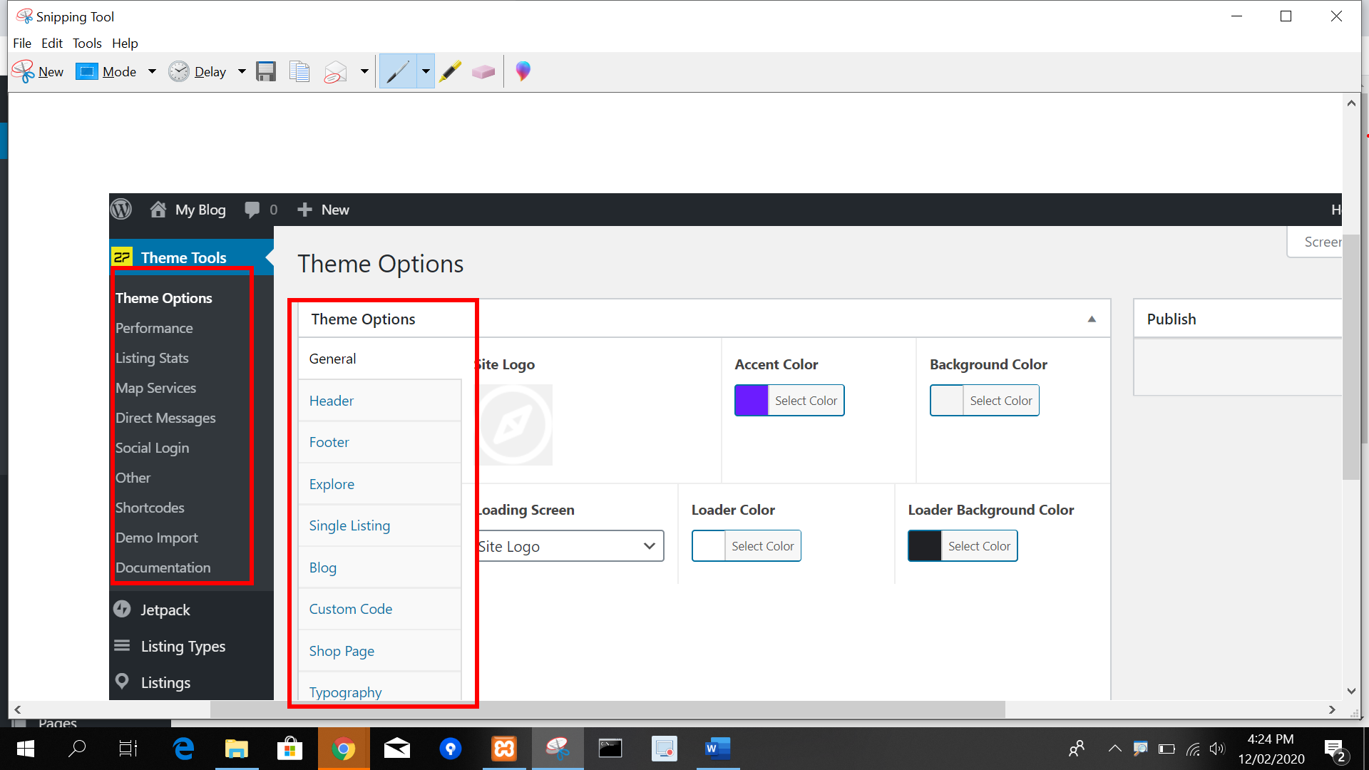 extended panel in paid themes
